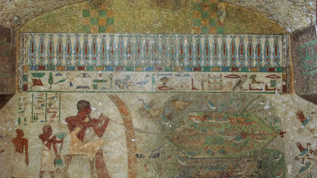 The tomb of Khnumhotep II (Tomb 3) at Beni Hassan