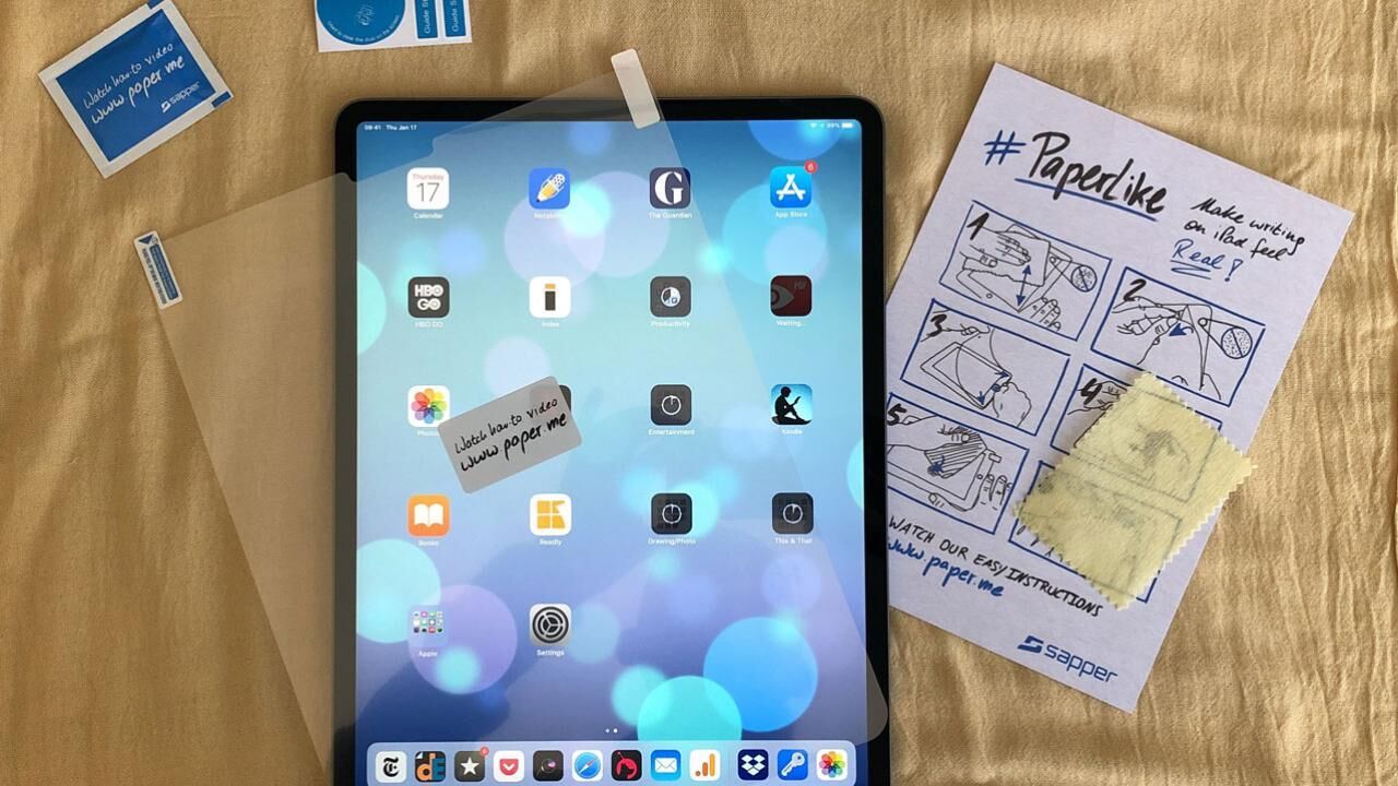 Applying PaperLike artist's screen protector on the new iPad Pro and its effects on the drawing experience