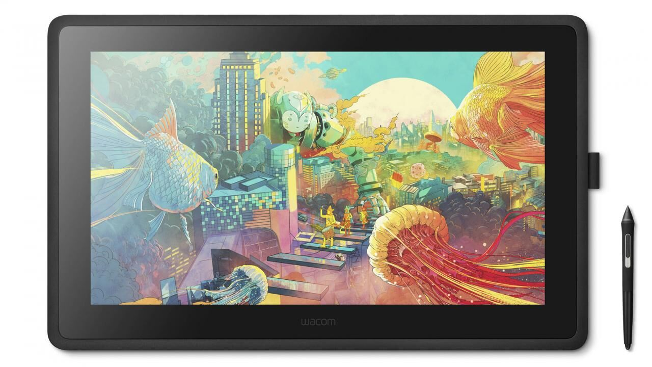 Cintiq 22 with Pro Pen 2 is a larger budget pen display from Wacom aimed for beginners