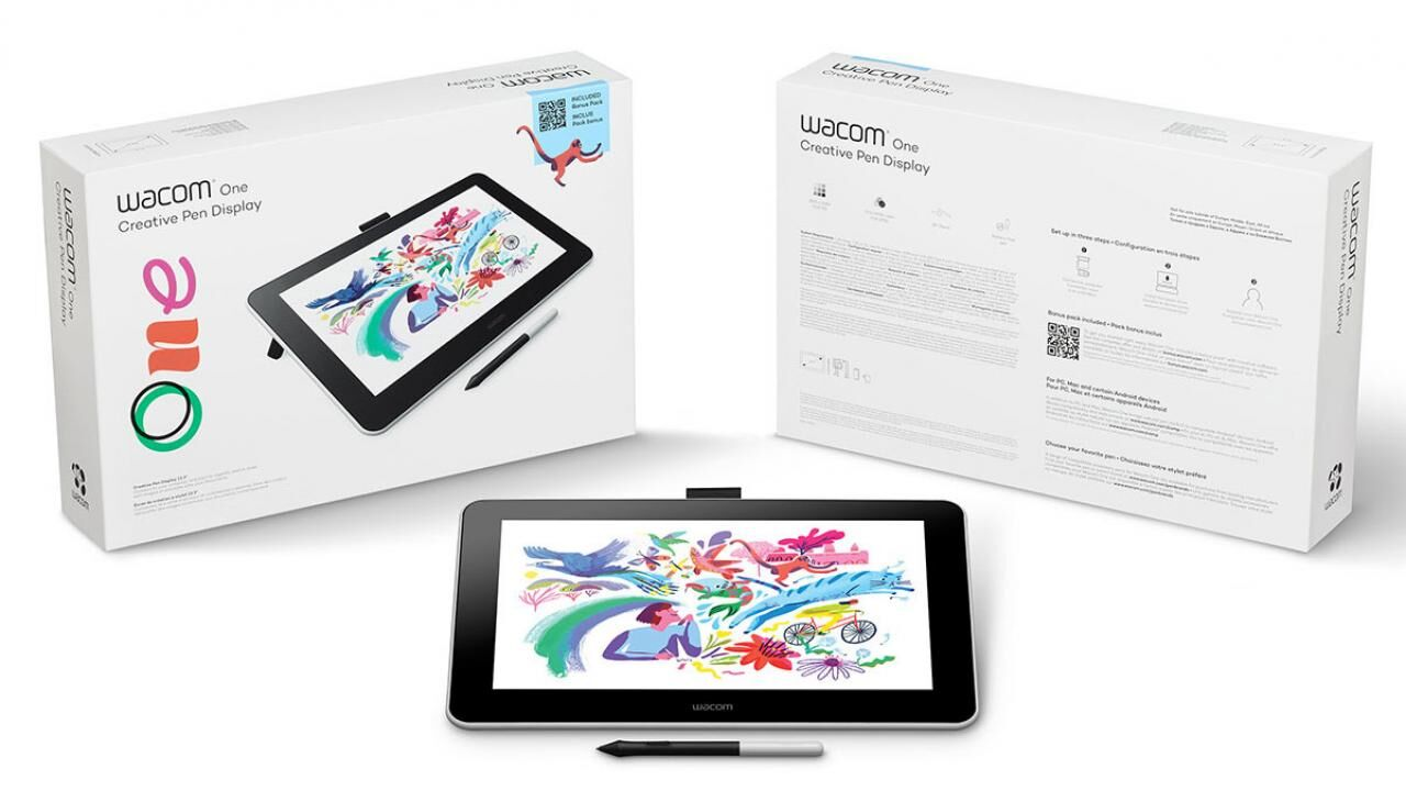 The new One is the cheapest among Wacom's budget-conscious drawing displays