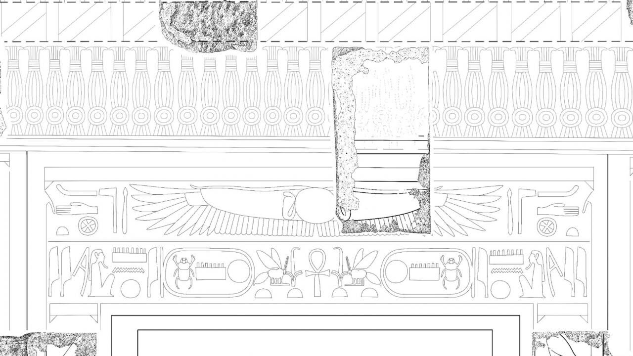 Creating the composite drawing of the Bark Sanctuary's western outer wall in the Small Amun Temple at Medinet Habu (Part 3)