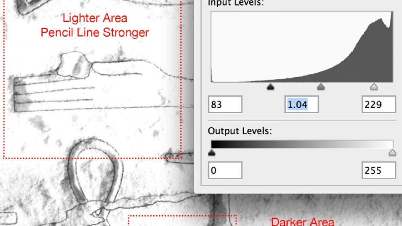 Modifying Pencil Lines on B/W Photo Enlargements