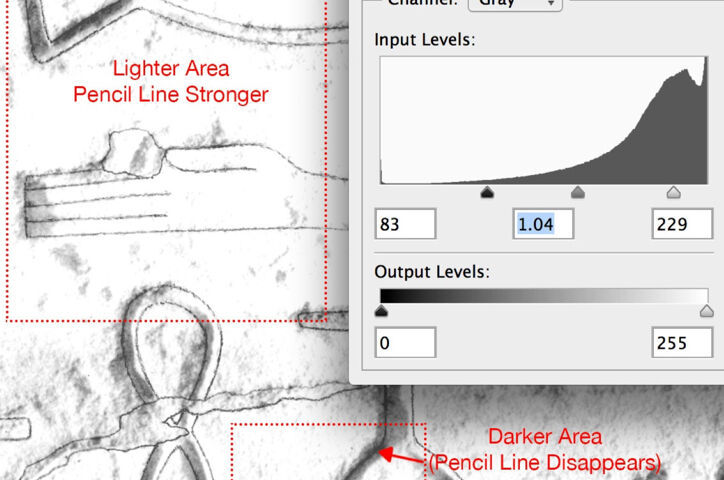 Modifying Pencil Lines on B/W Photo Enlargements