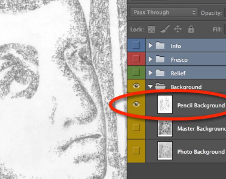 Detached Pencil Lines on Photo Enlargement
