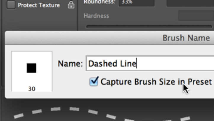 Dashed Brush Line