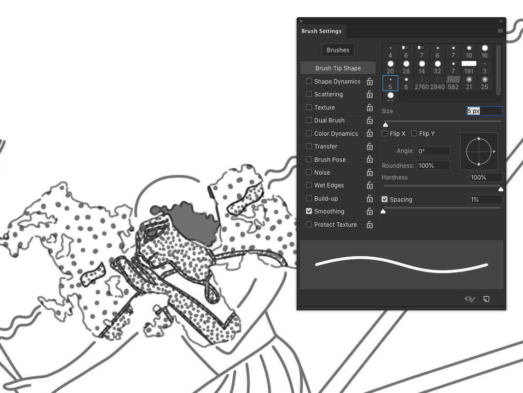 The most useful new features of Photoshop CC – Using brush-stroke