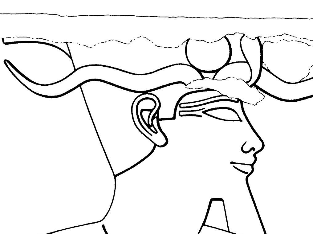 Ear representations from different eras appearing on the same monument (fragments from the 18. Dynasty Khonsu temple at Karnak)