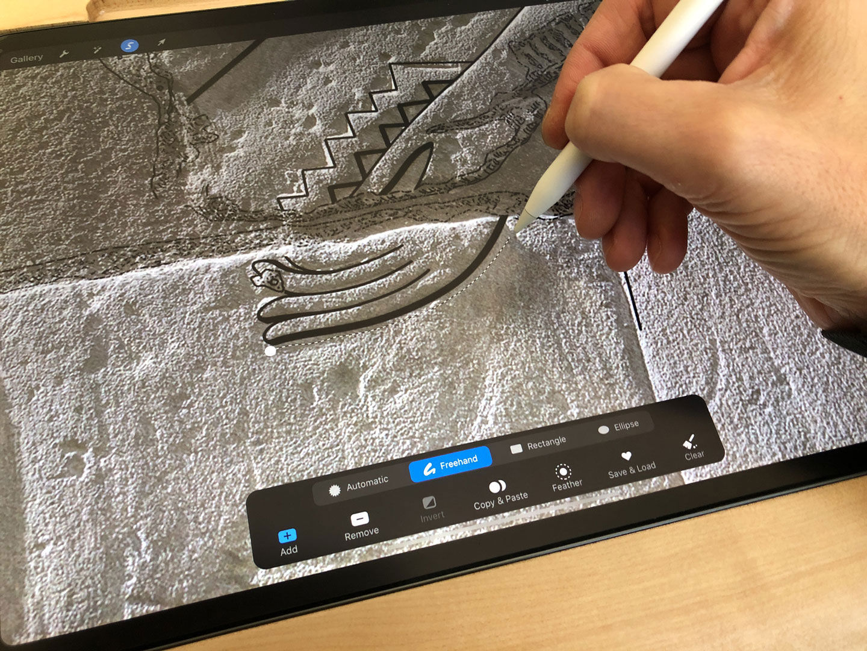 Modifying a drawing segment in Procreate