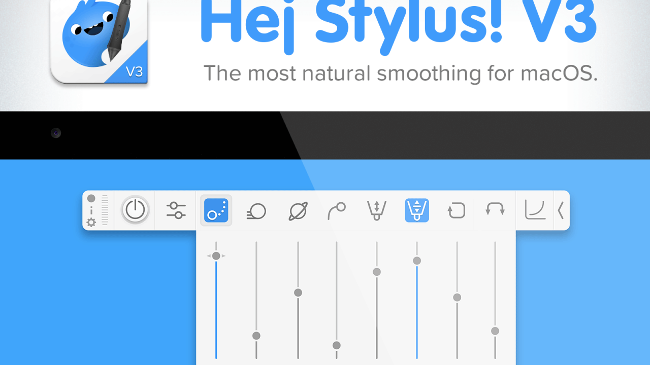 Hej Stylus! is the first global pen stabilizer application for mac
