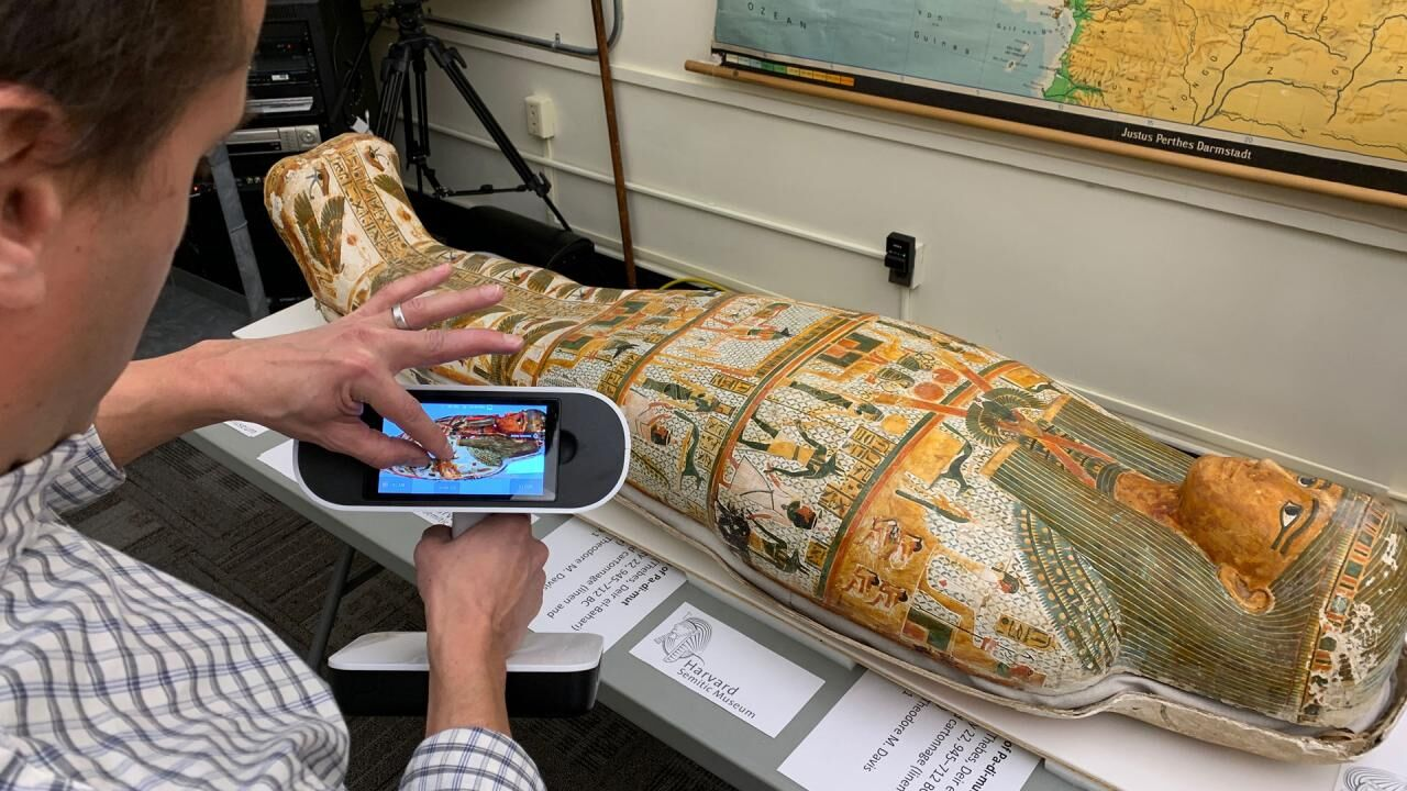 Three Ancient Egyptian Coffins at Harvard University