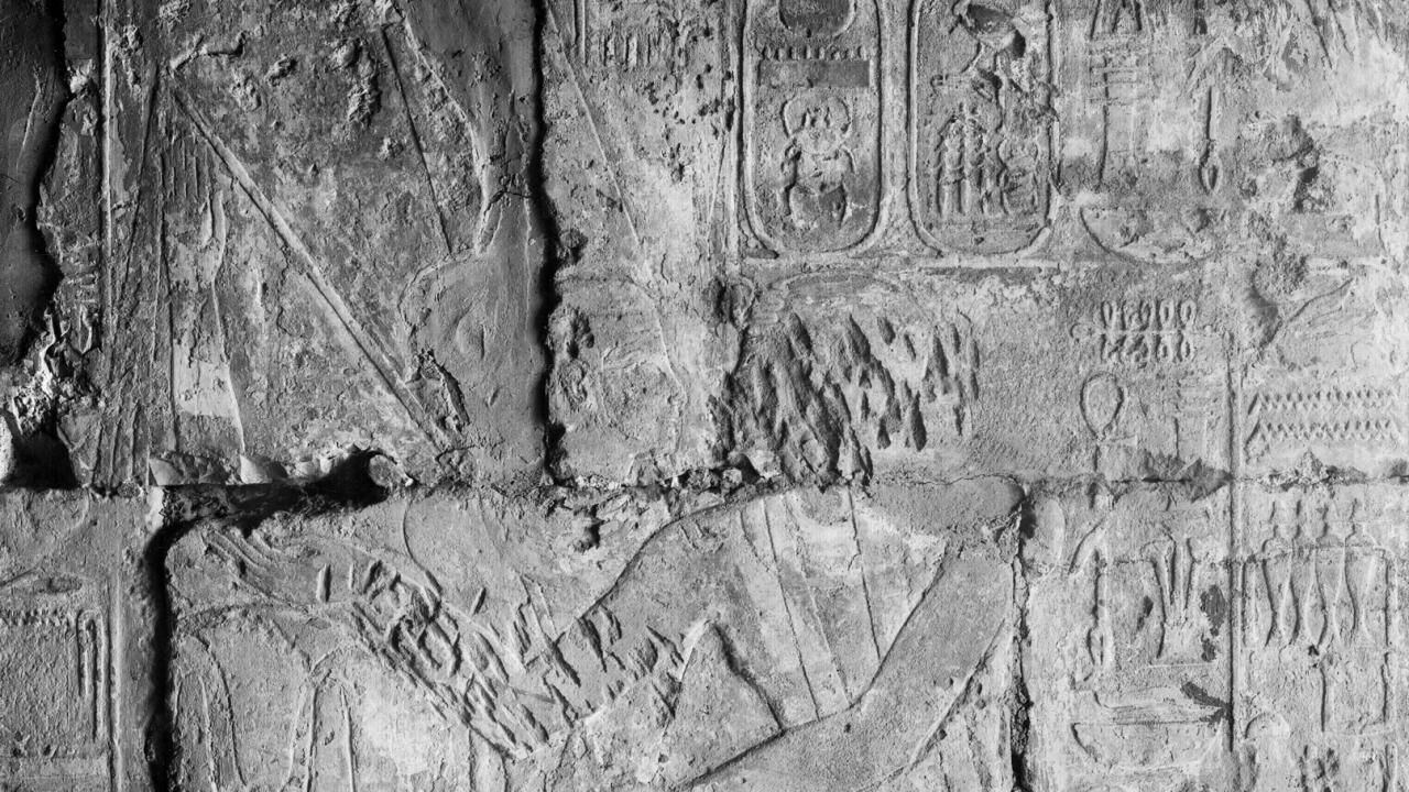 Creating the composite drawing of the Bark Sanctuary's western outer wall in the Small Amun Temple at Medinet Habu (Part 1)