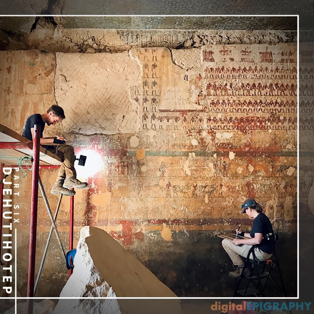 instagram-gallery/Documentation Work and Digital Collation in Progress in the Tomb of Djehutihotep, as carried out by Marleen De Meyer and Toon Sykora
