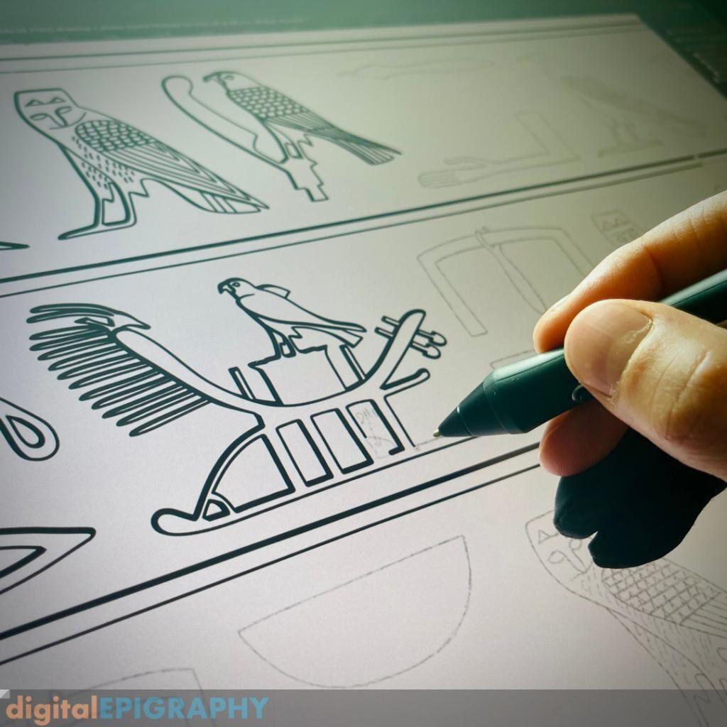 instagram-gallery/Digitally Inking the Mastaba Architrave of Old Kingdom Scribe, Idu