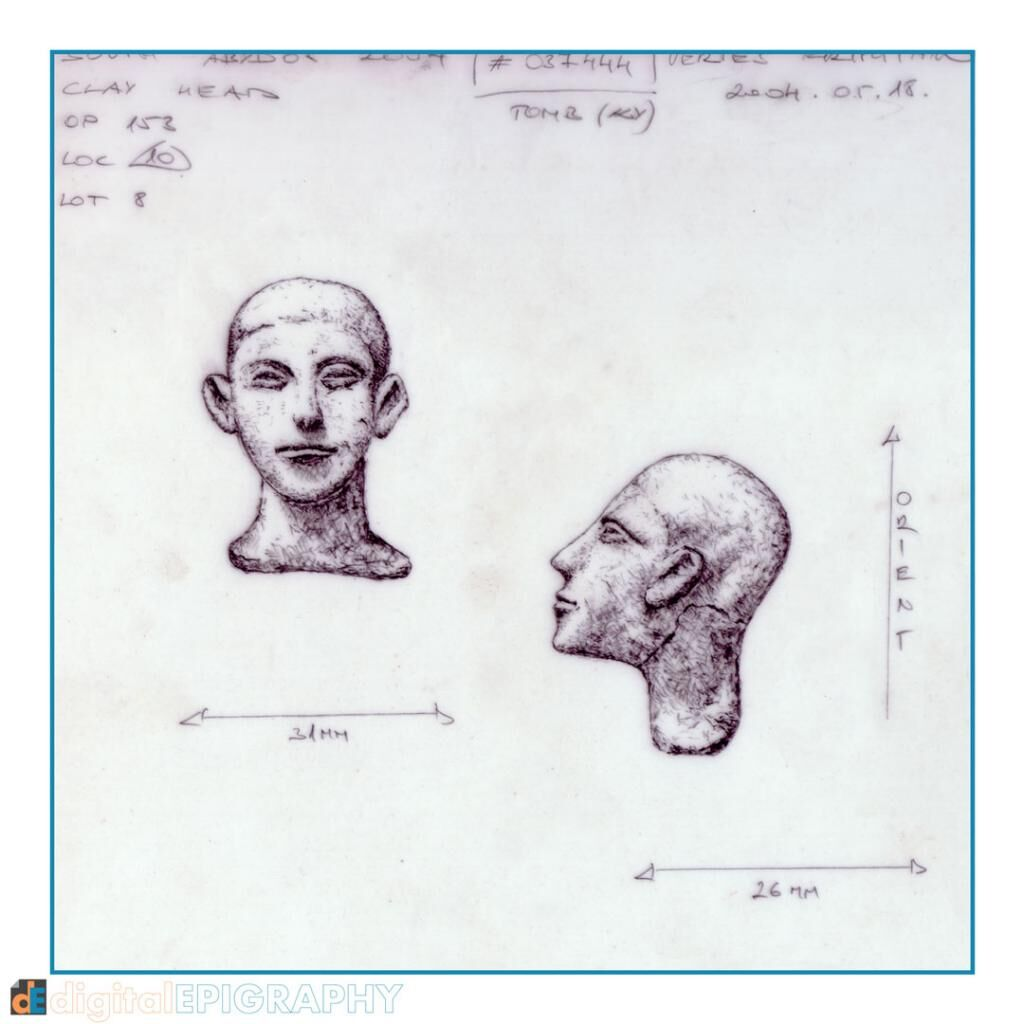 instagram-gallery/Life-size, fully modelled and shaded representation of a small clay figurine head from South Abydos