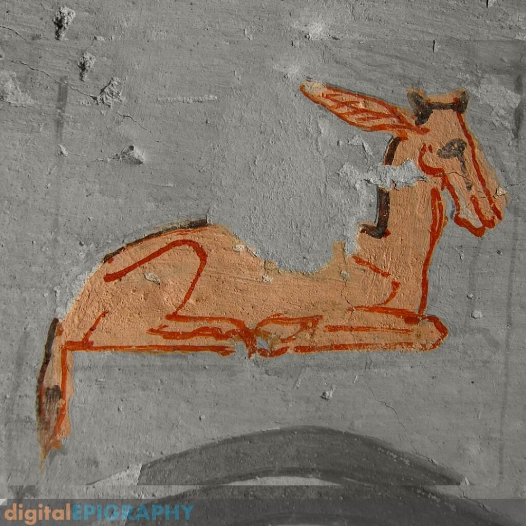 instagram-gallery/Painted hieroglyph representing a newborn bubalis (iw) from El-Khokha, Thebes