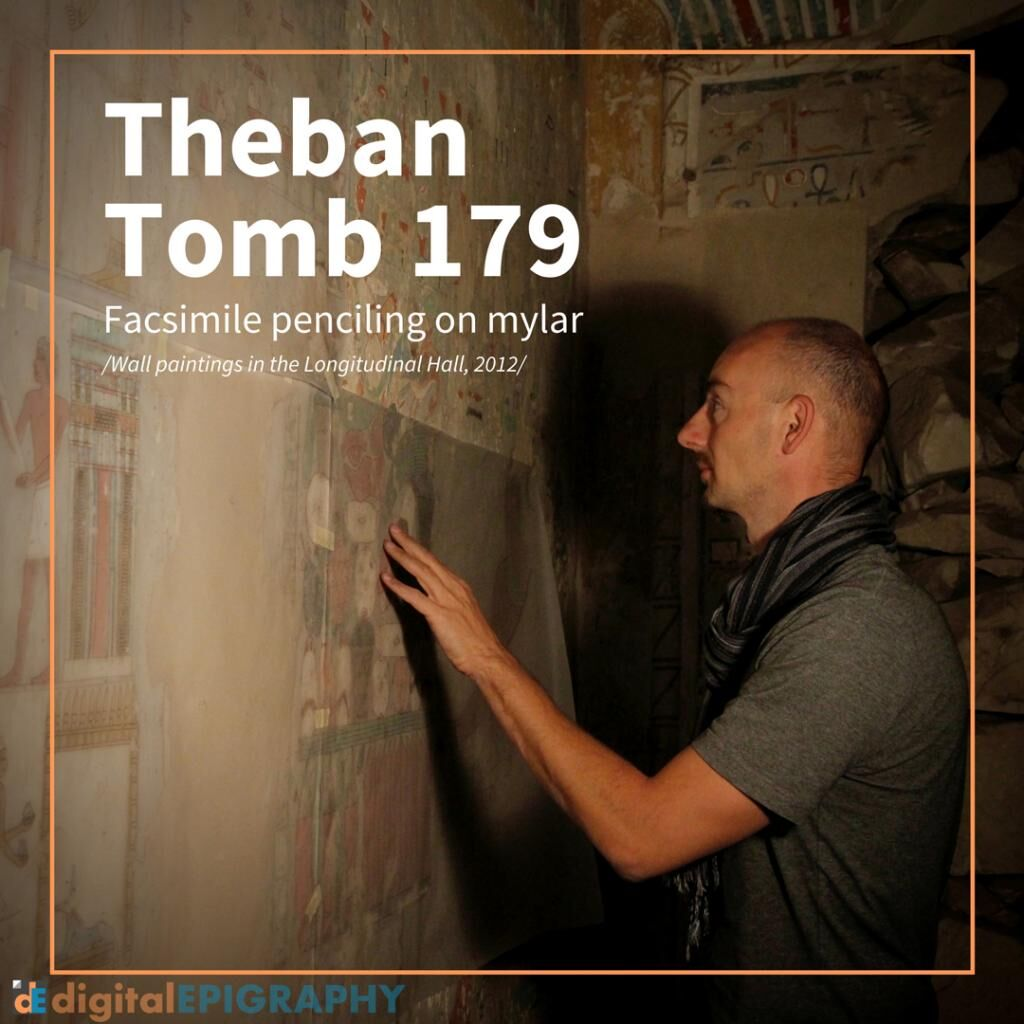 instagram-gallery/Facsimile Penciling on Mylar in Theban Tomb 179
