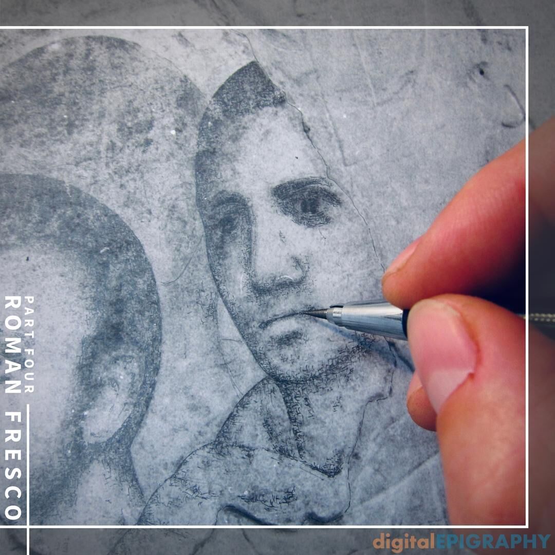 Traditional Penciling on Photo Enlargements in Order to Document the Faded Late Roman Murals at Luxor Temple