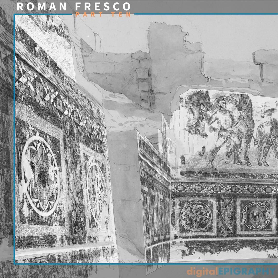Panoramic view of the Roman Ambulatory with the Digital Drawings Superimposed over Wilkinson's Watercolor Image