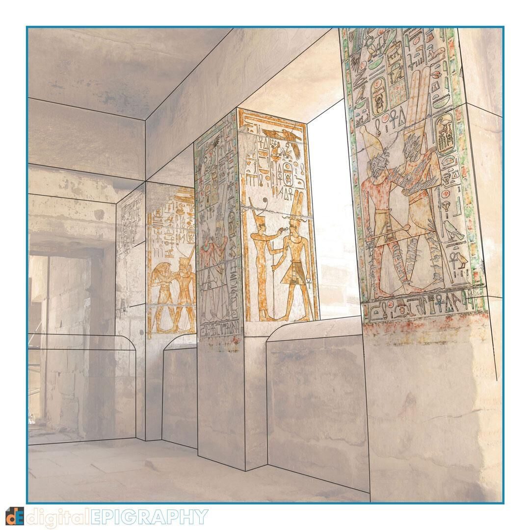 Digital recording of pigment in the Small Amun Temple at Medinet Habu