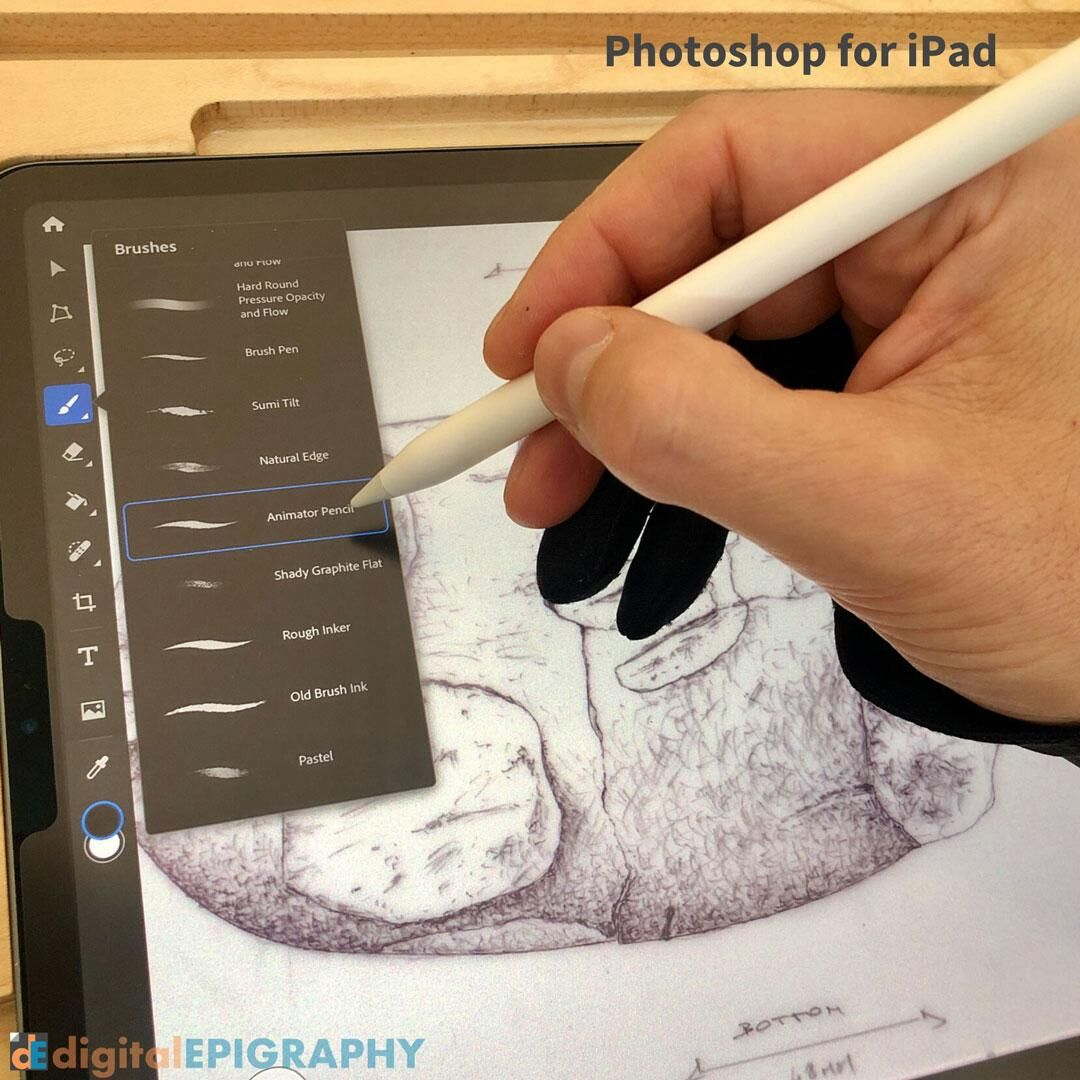 Experimenting with digital object drawing on the iPad Pro using the new Photoshop for iPad
