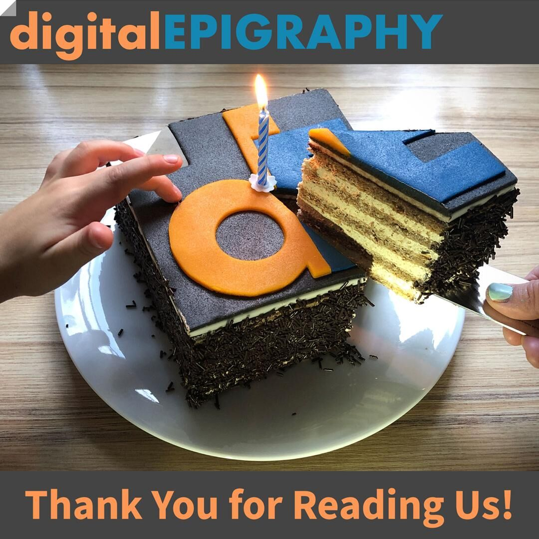 A short note on digitalEPIGRAPHY's Second Anniversary