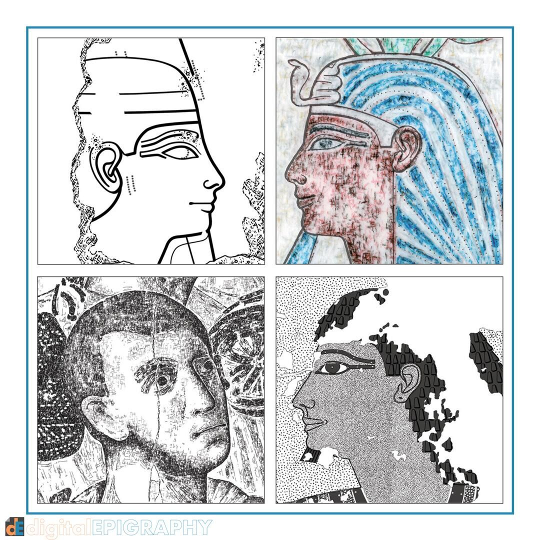 Faces created by using different digital documentation techniques: from the Chicago House method to Roman fresco texturing