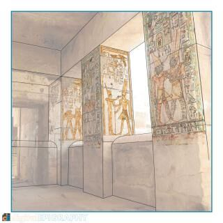instagram-gallery/Digital recording of pigment in the Small Amun Temple at Medinet Habu