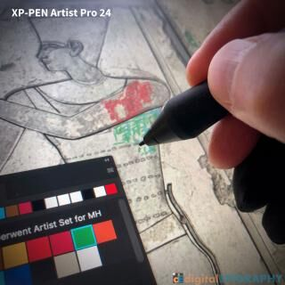 instagram-gallery/Working on a large-scale multilayered, color-enhanced epigraphic project using XP-PEN's brand new Artist Pro 24