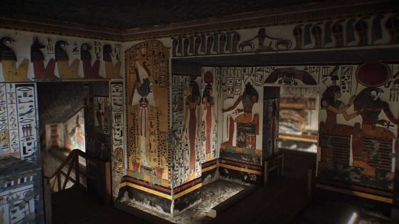 Walking through the tomb of Nefertari today and in the past