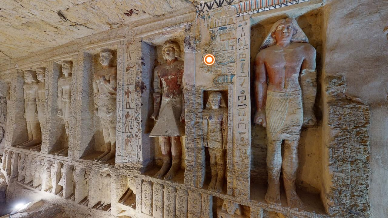 A virtual tour of the recently discovered Old Kingdom tomb of Wahty in the Saqqara necropolis