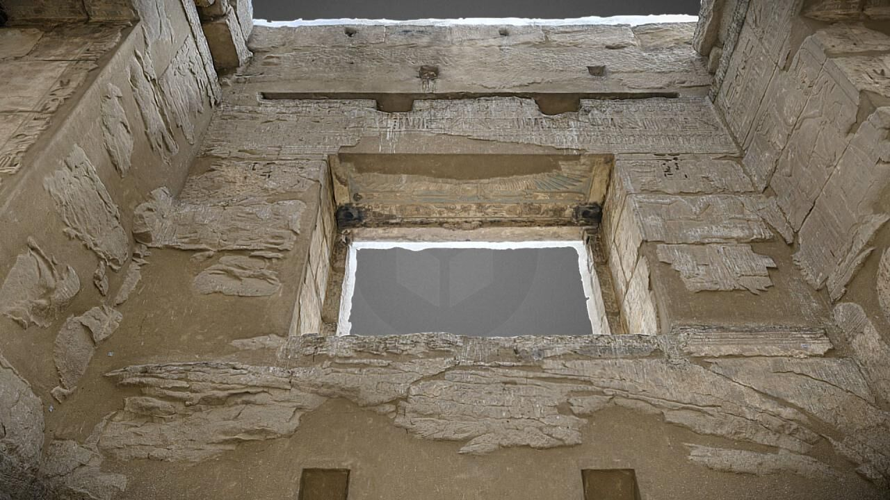 3D presentation of the Central Tower Interior of the Eastern High Gate at Medinet Habu