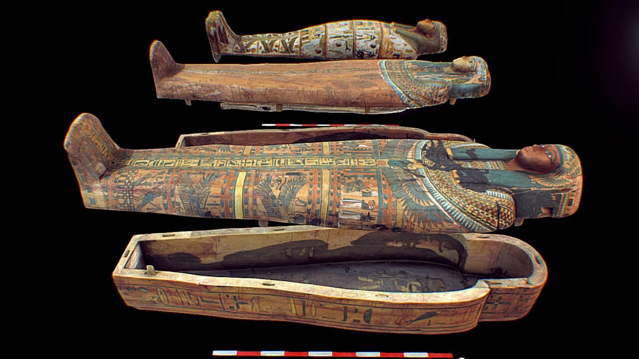 Sketchfab models of three Ancient Egyptian Coffins at Harvard University