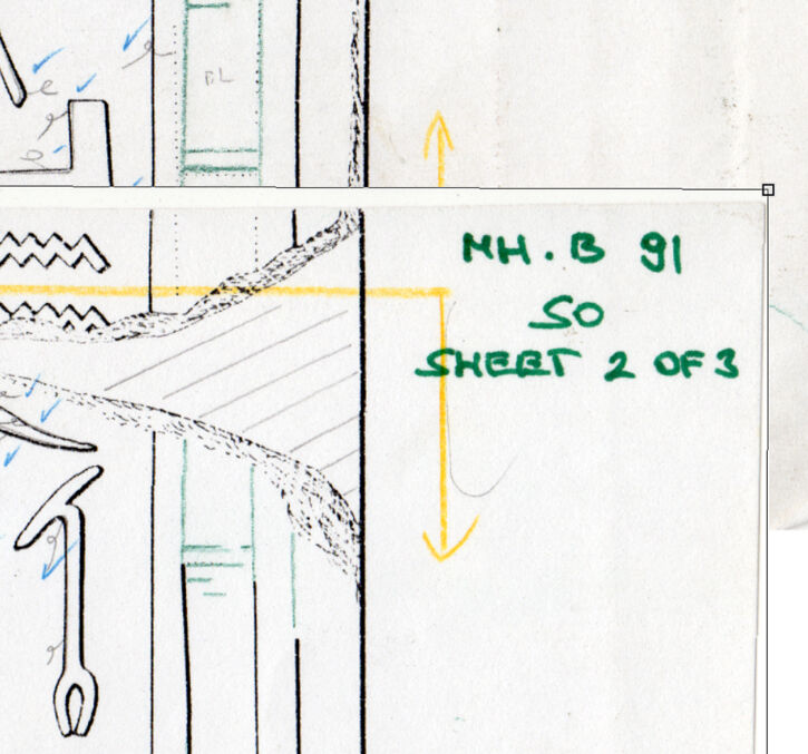 Merging Three Sections Manually into One Drawing