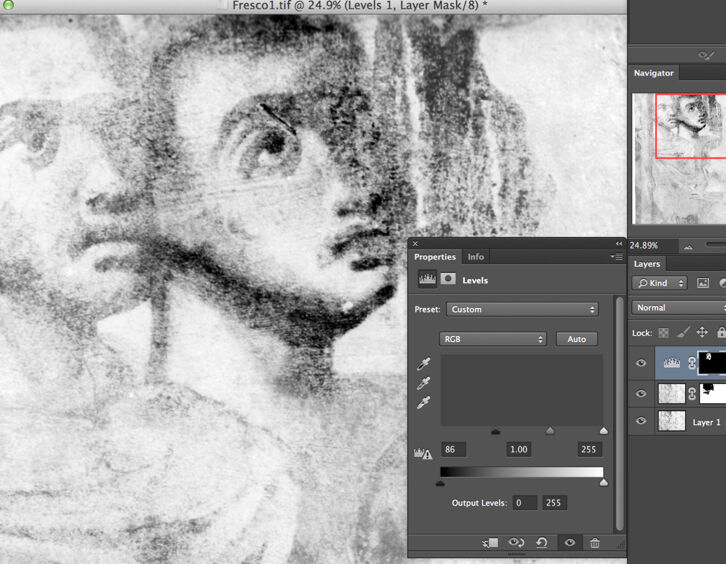 Using Layer Masks to Emphasize Details on a B/W Photo