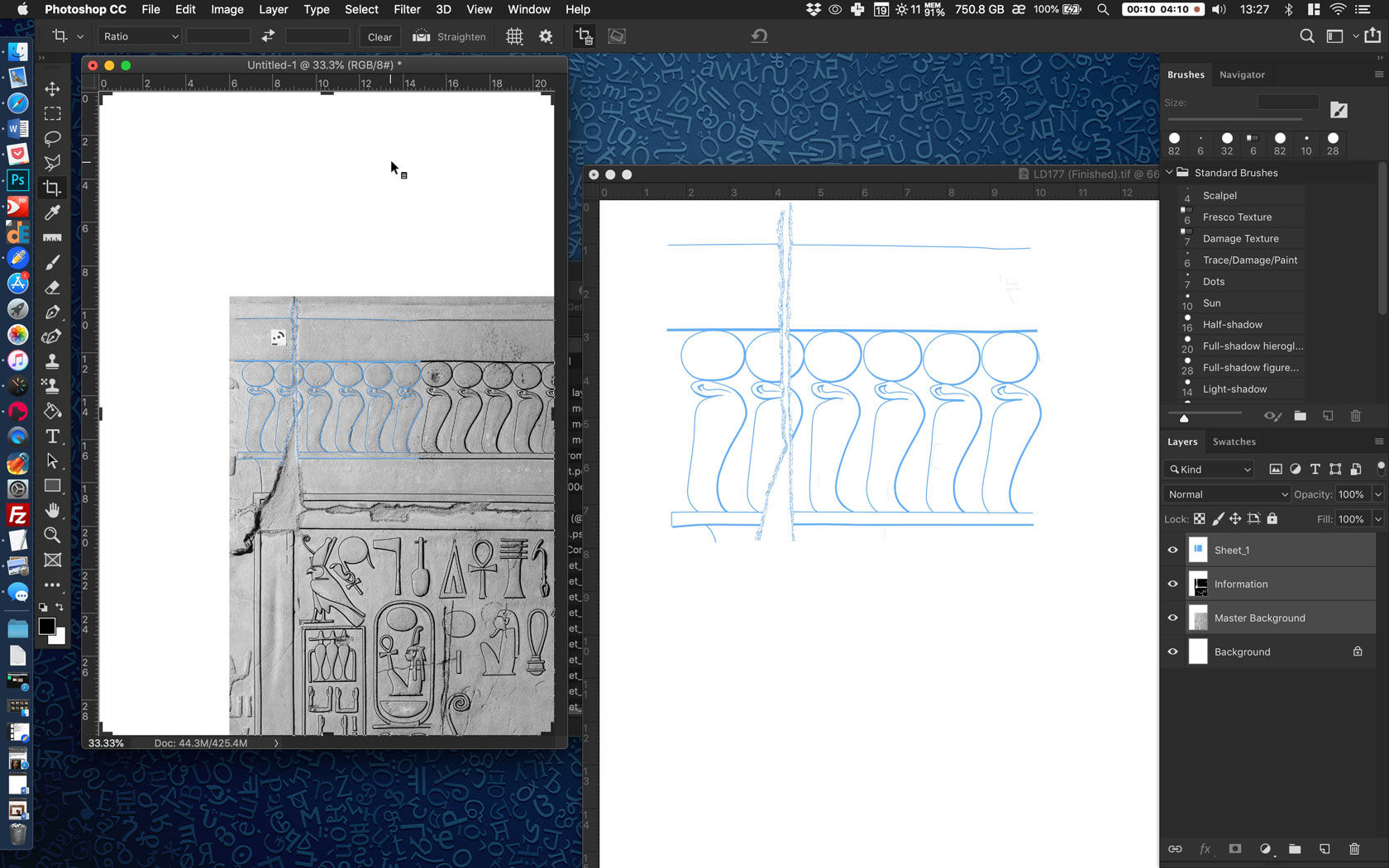 How to prepare the inked drawing for digital collation