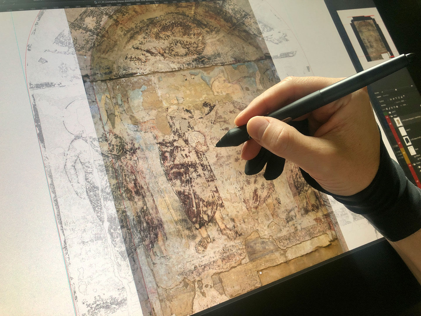 Using multiple modification tools to warp the Apse drawing
