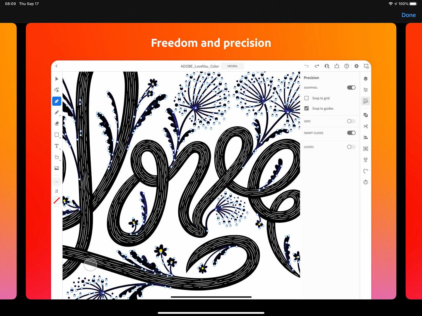 Adobe Illustrator on the iPad