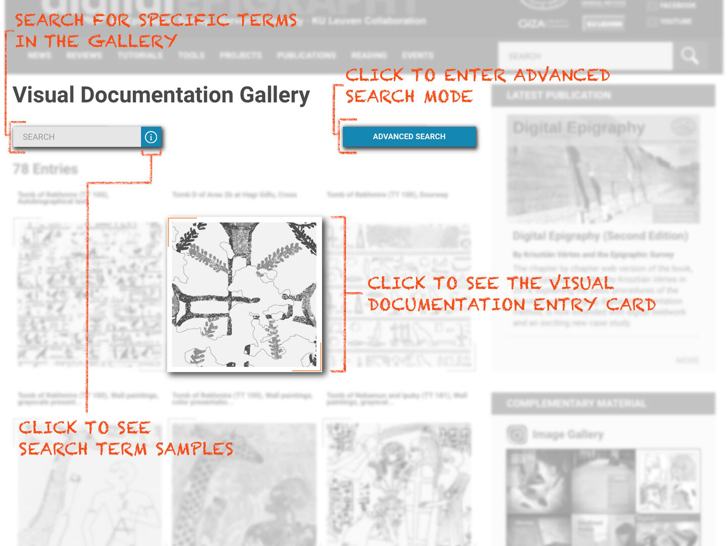 digitalEPIGRAPHY's new catalogs, the Painted Hieroglyph Database, and the Visual Documentation Database are here now