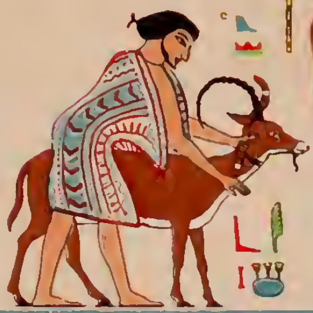 Tomb of Khnumhotep II, Wall painting, watercolor