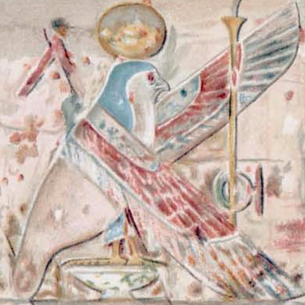 Temple of Dendur, Frieze, watercolor